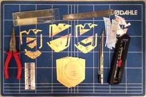 2012 Badge [DIY drawings] making of ...