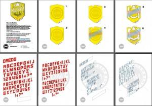 2012 Badge [DIY drawings] Instructions