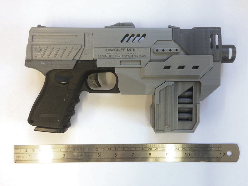 2012 dredd lawgiver mkii vidm kit 3d printed idm