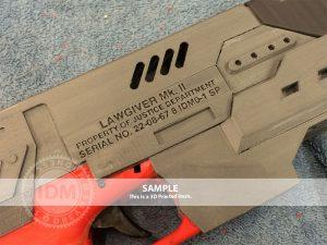 2012 Gun Custom Serial Plate