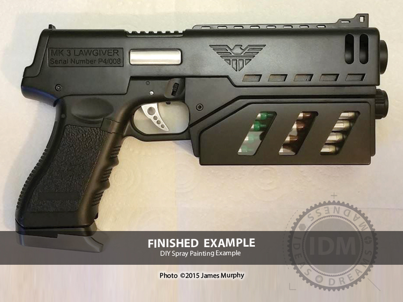 Judge Dredd LawGiver Mk3 concept design by James Murphy