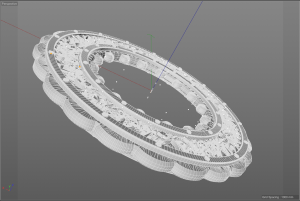 Inspired HALO Ring concept for 3D Printing.